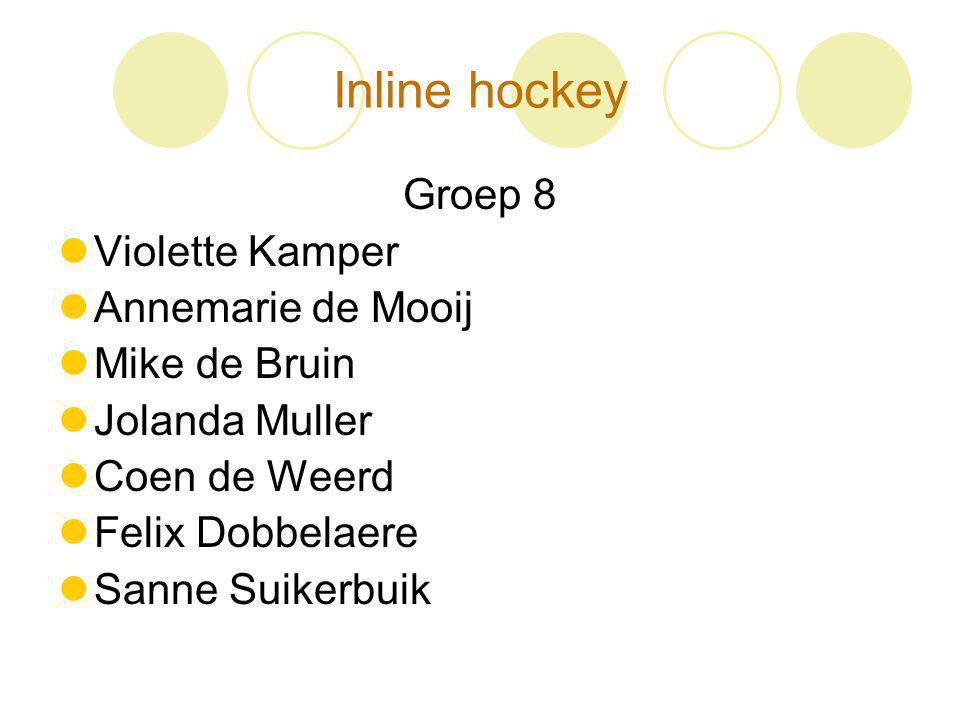 Inline hockey Groep 8 Violette Kamper Annemarie de Mooij Mike de Bruin