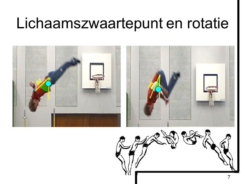 Lichaamszwaartepunt en rotatie