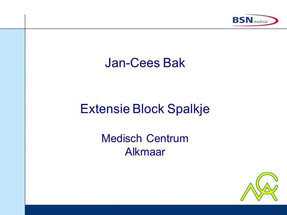 Jan-Cees Bak Extensie Block Spalkje Medisch Centrum Alkmaar