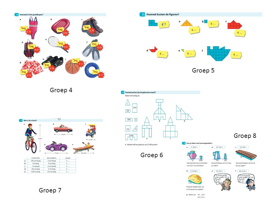 Groep 5 Groep 4 Groep 8 Groep 6 Groep 7