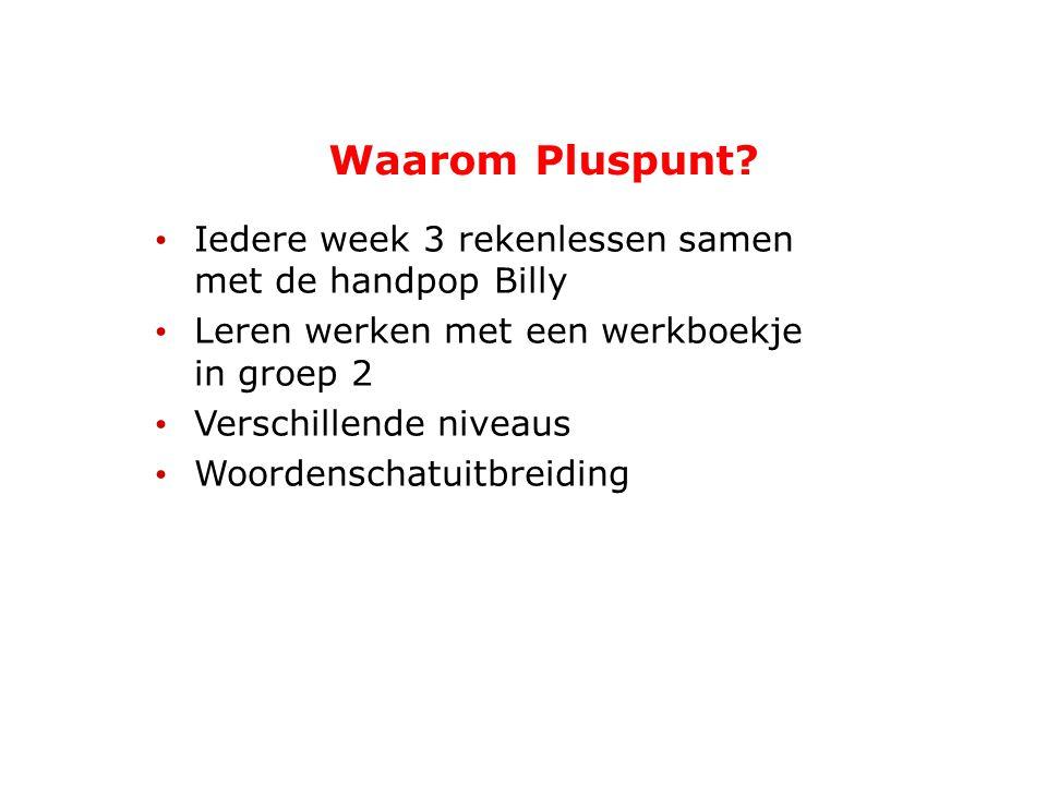 Waarom Pluspunt Iedere week 3 rekenlessen samen met de handpop Billy
