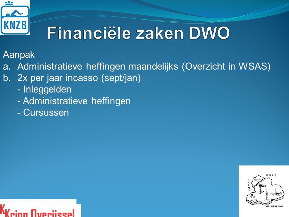 Financiële zaken DWO Aanpak