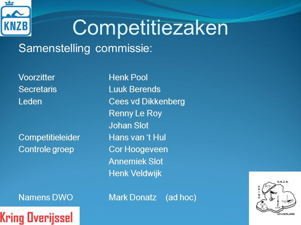 Competitiezaken Samenstelling commissie: Voorzitter Henk Pool