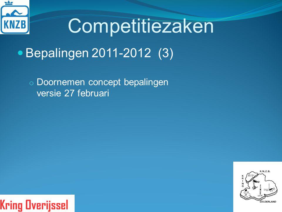 Competitiezaken Bepalingen 2011-2012 (3)