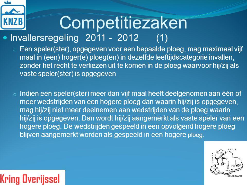 Competitiezaken Invallersregeling 2011 - 2012 (1)