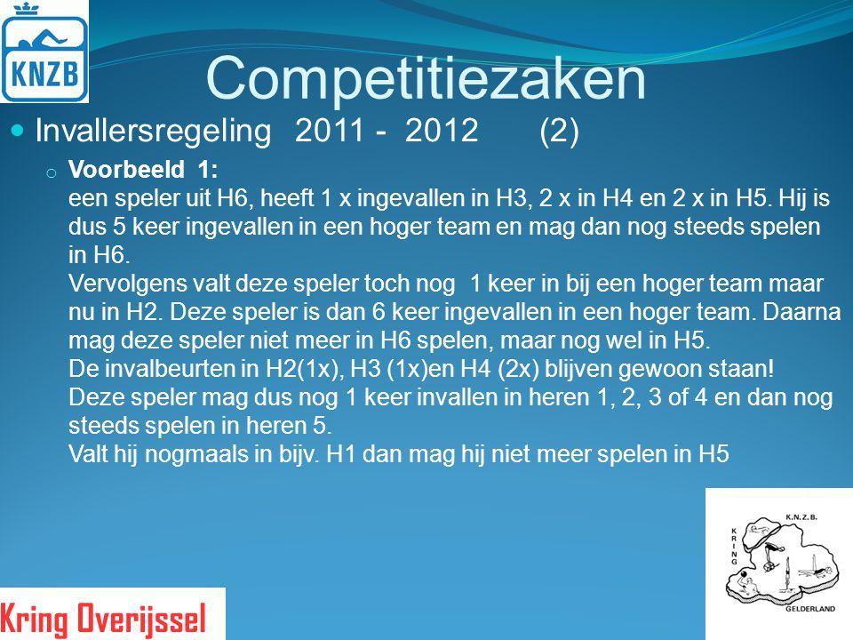 Competitiezaken Invallersregeling 2011 - 2012 (2)