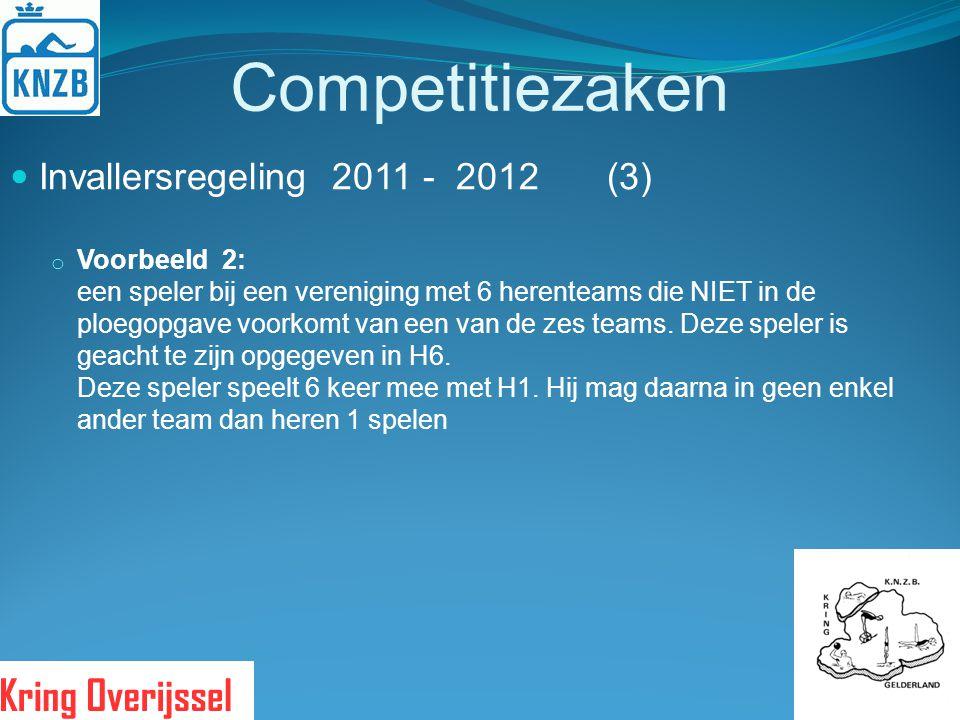 Competitiezaken Invallersregeling 2011 - 2012 (3)