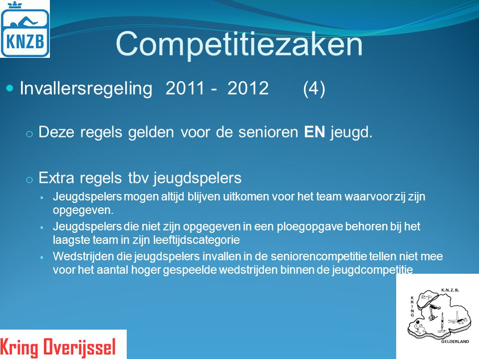 Competitiezaken Invallersregeling 2011 - 2012 (4)