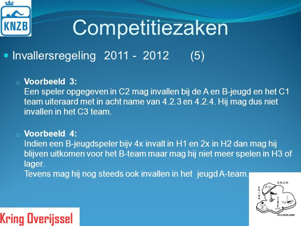 Competitiezaken Invallersregeling 2011 - 2012 (5)