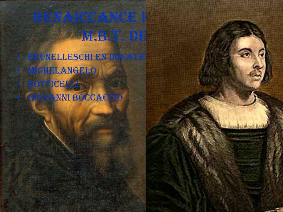 RENAICCANCE KUNSTENAARS M.B.T. DE'MEDICI
