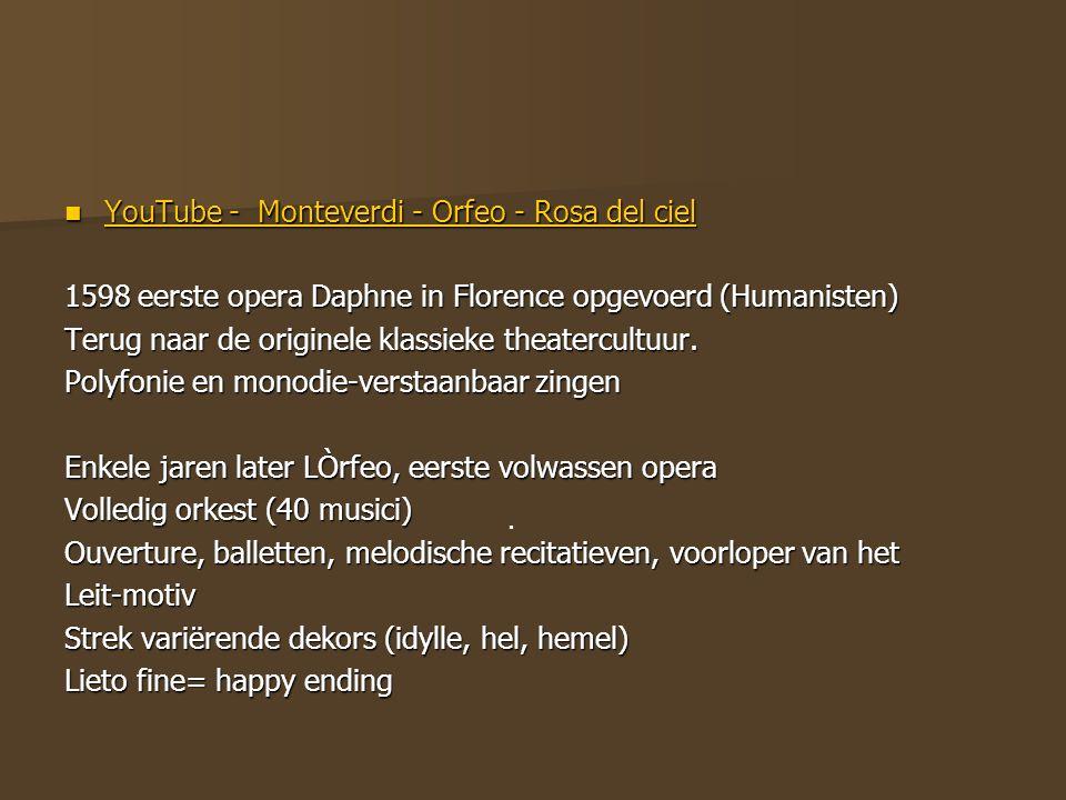 YouTube - Monteverdi - Orfeo - Rosa del ciel