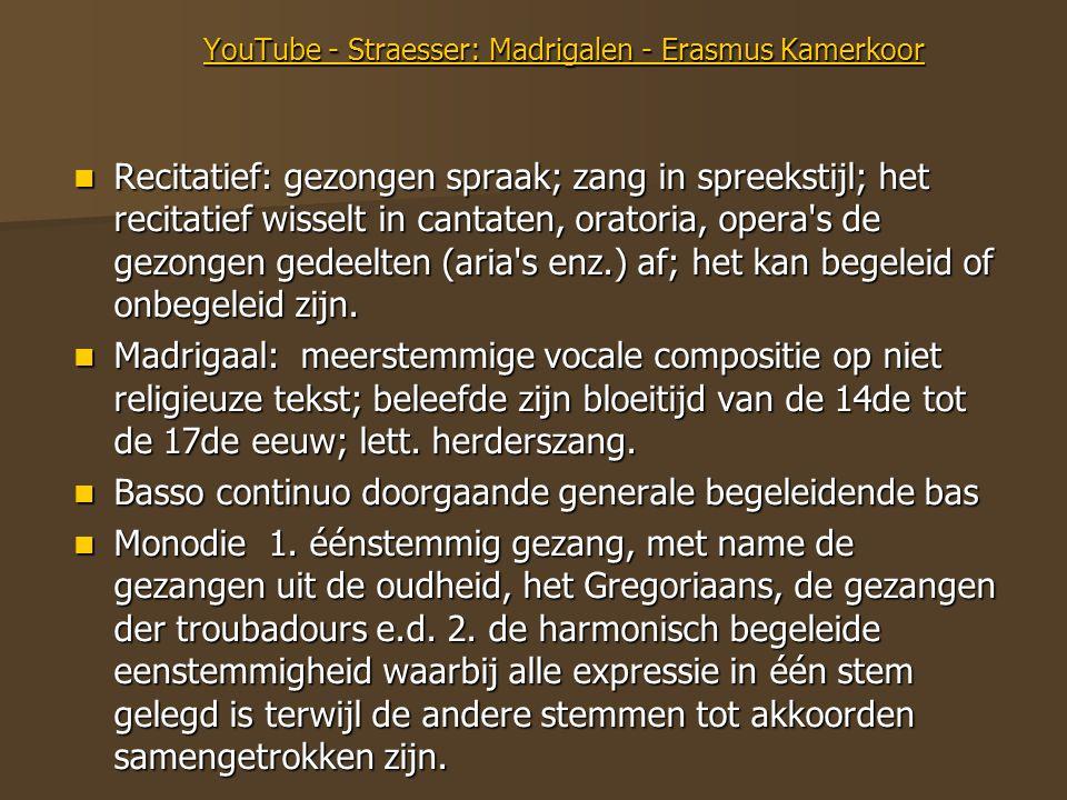 YouTube - Straesser: Madrigalen - Erasmus Kamerkoor