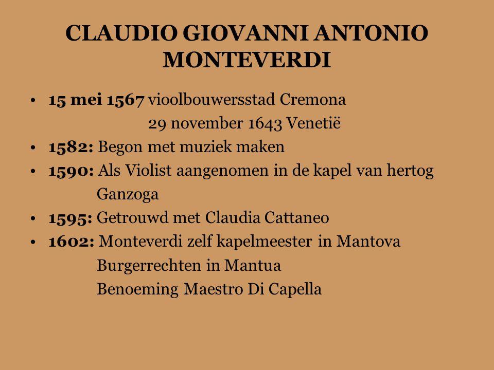 CLAUDIO GIOVANNI ANTONIO MONTEVERDI