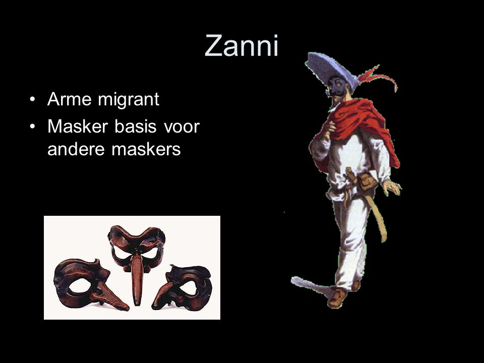 Zanni Arme migrant Masker basis voor andere maskers