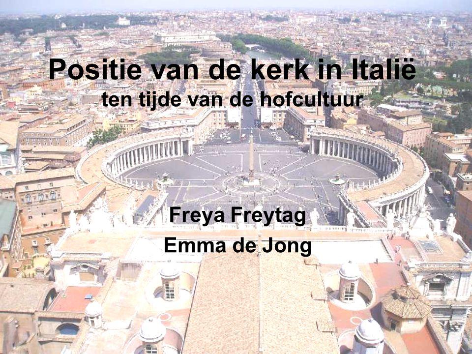Positie van de kerk in Italië ten tijde van de hofcultuur