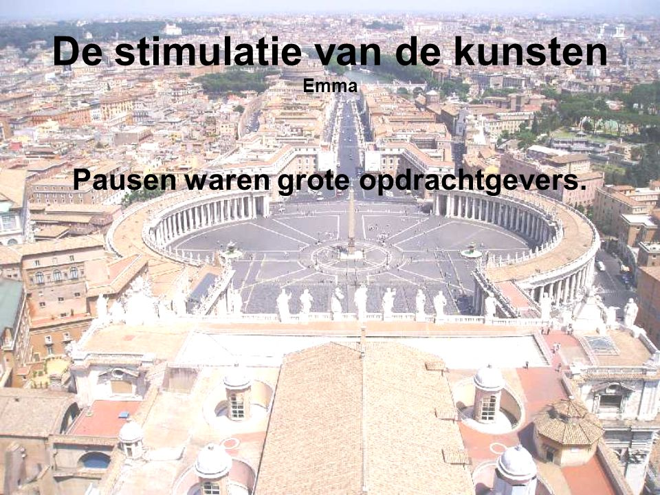 De stimulatie van de kunsten Emma