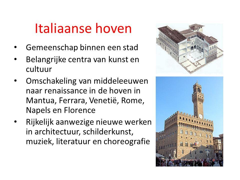Italiaanse hoven Gemeenschap binnen een stad