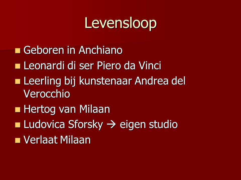 Levensloop Geboren in Anchiano Leonardi di ser Piero da Vinci