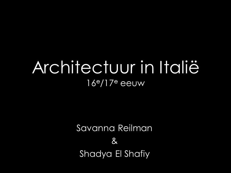 Architectuur in Italië 16e/17e eeuw