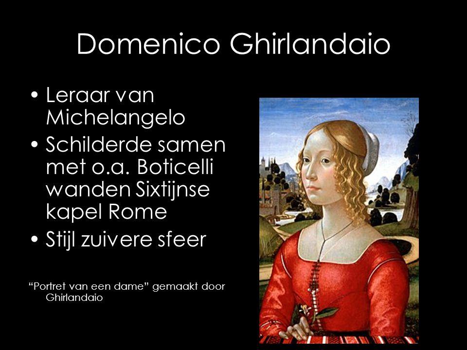 Domenico Ghirlandaio Leraar van Michelangelo