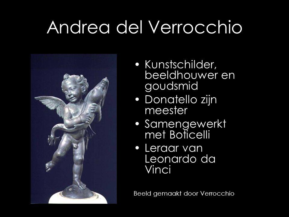 Andrea del Verrocchio Kunstschilder, beeldhouwer en goudsmid