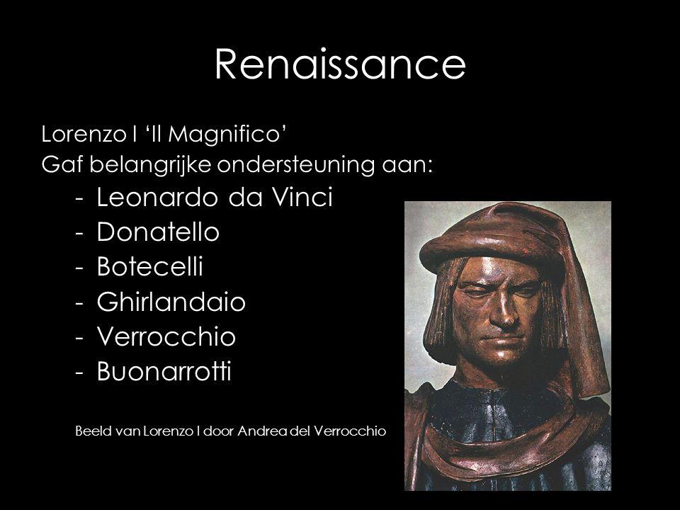 Renaissance Leonardo da Vinci Donatello Botecelli Ghirlandaio