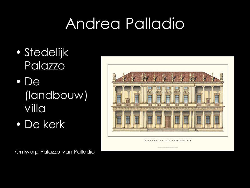 Andrea Palladio Stedelijk Palazzo De (landbouw) villa De kerk