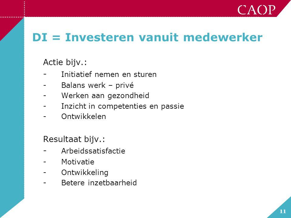 DI = Investeren vanuit medewerker