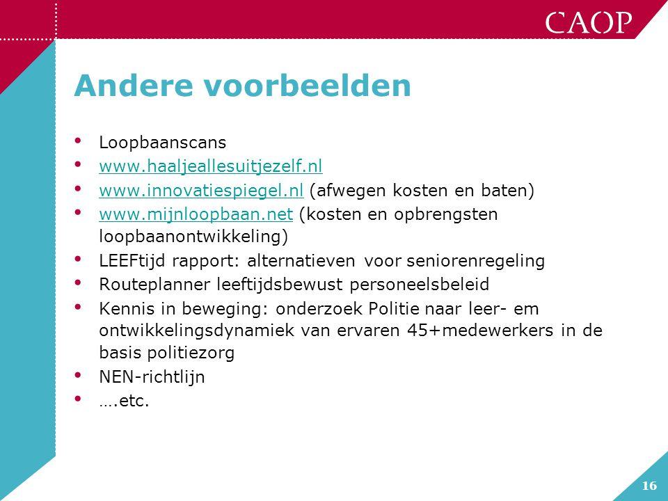 Andere voorbeelden Loopbaanscans www.haaljeallesuitjezelf.nl