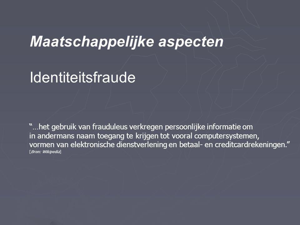 Maatschappelijke aspecten Identiteitsfraude