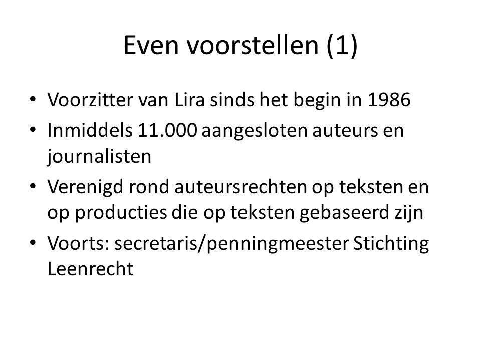 Even voorstellen (1) Voorzitter van Lira sinds het begin in 1986