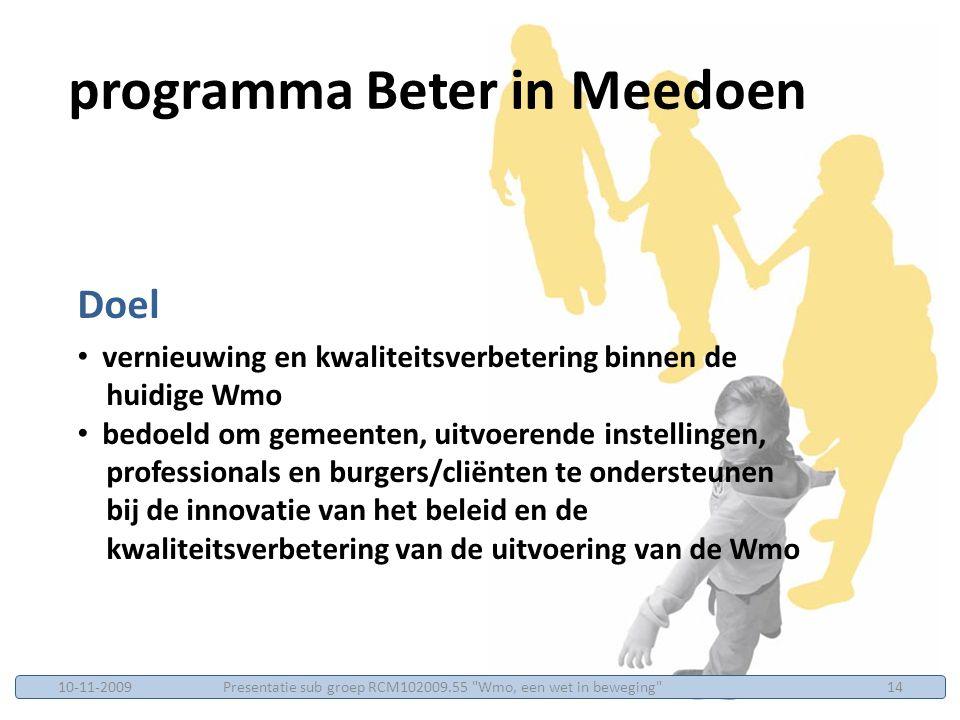 programma Beter in Meedoen