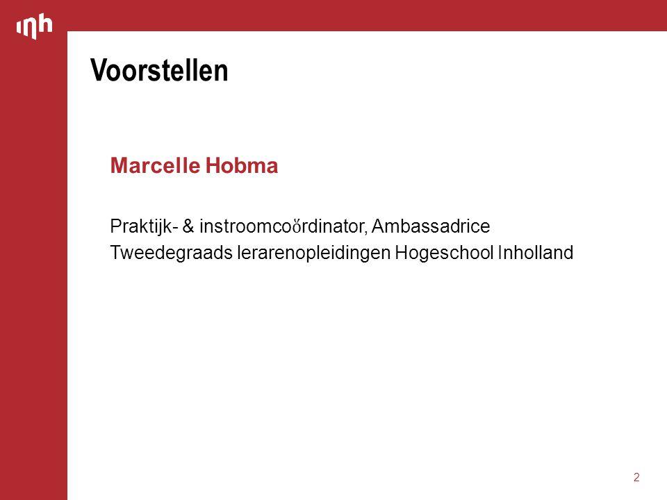 Voorstellen Marcelle Hobma