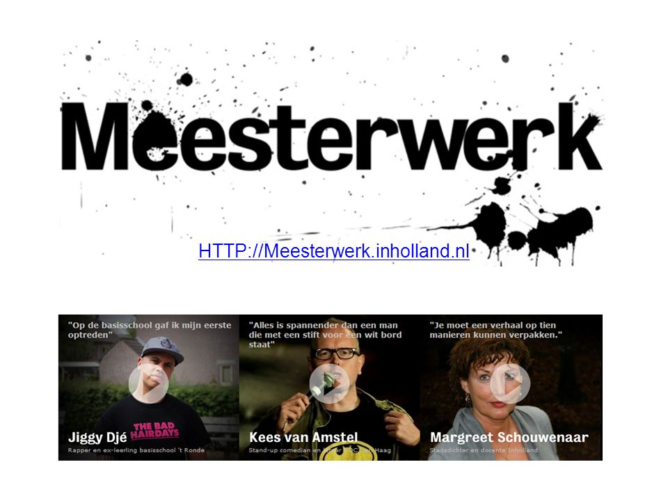 HTTP://Meesterwerk.inholland.nl
