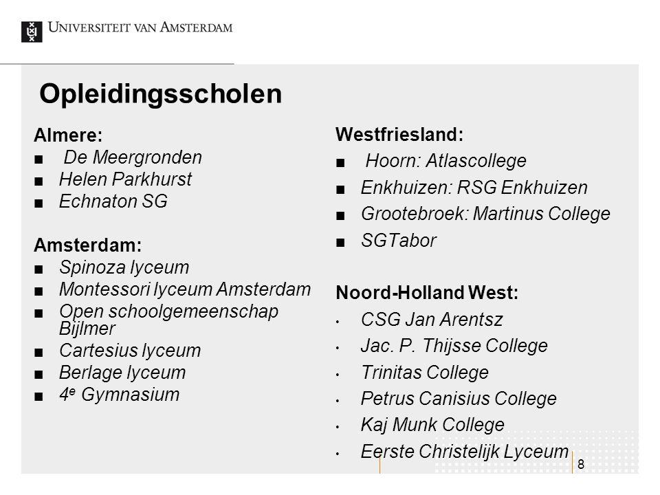Opleidingsscholen Westfriesland: Almere: Hoorn: Atlascollege