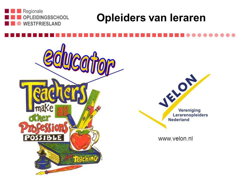 Opleiders van leraren educator www.velon.nl