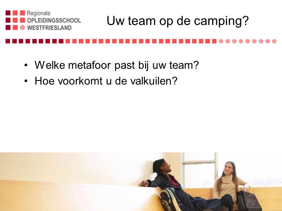 Uw team op de camping Welke metafoor past bij uw team