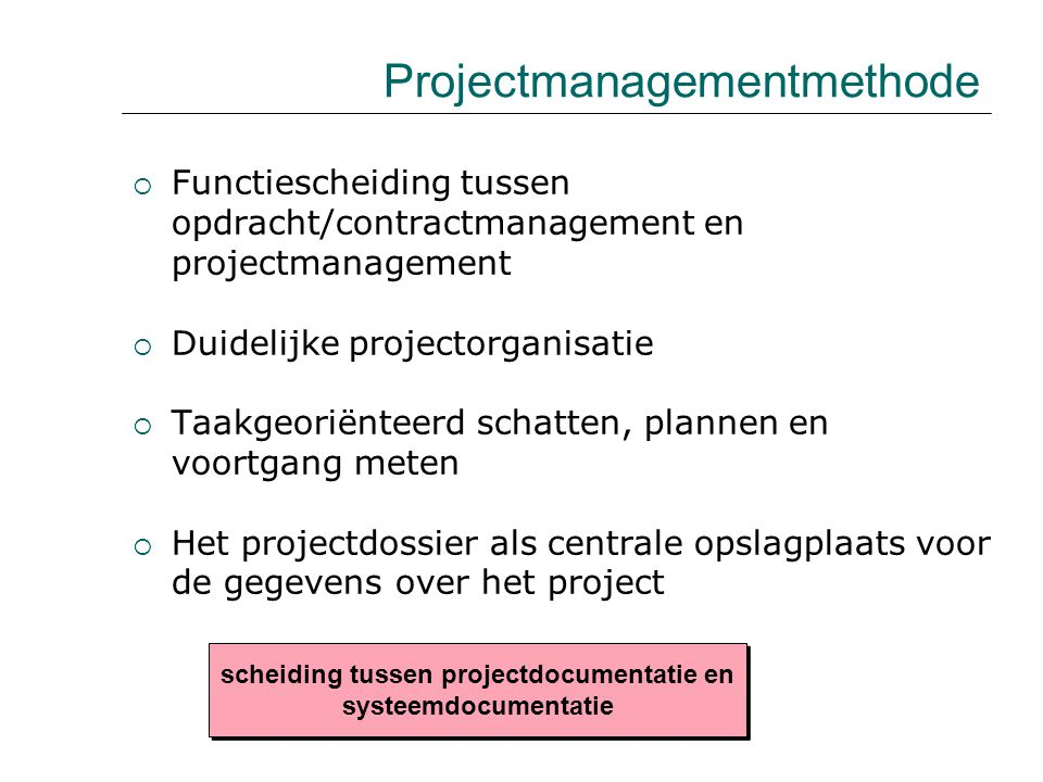 Projectmanagementmethode
