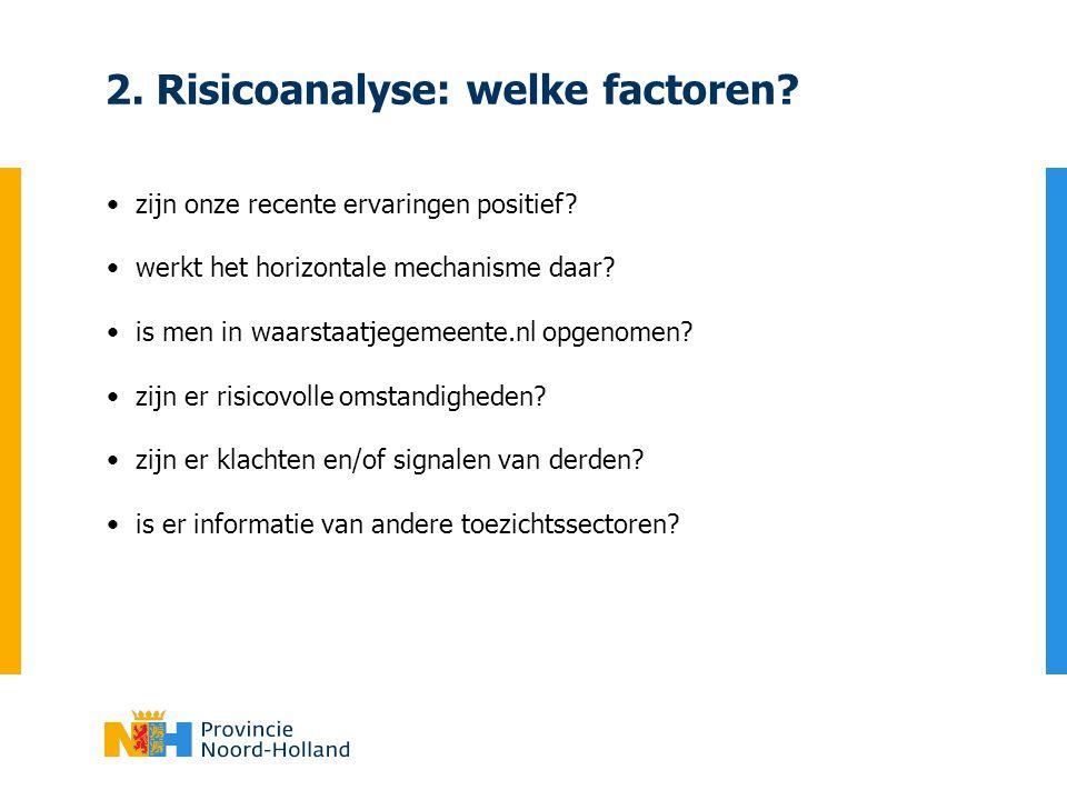 2. Risicoanalyse: welke factoren