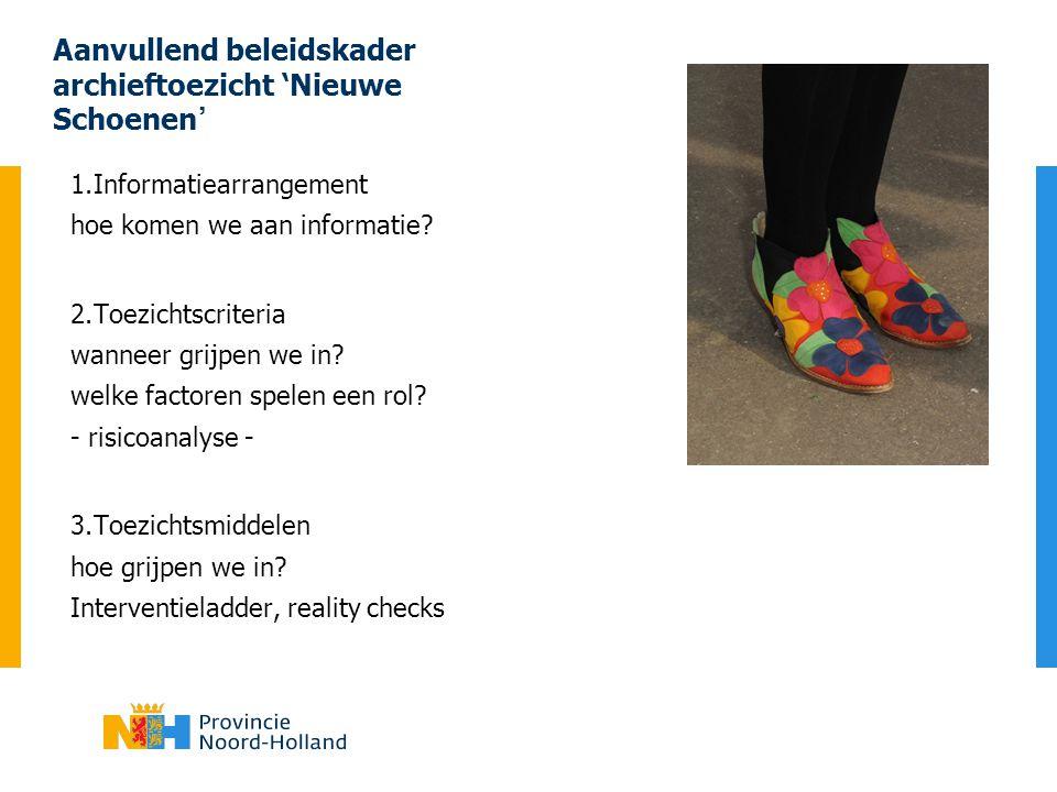 Aanvullend beleidskader archieftoezicht 'Nieuwe Schoenen'