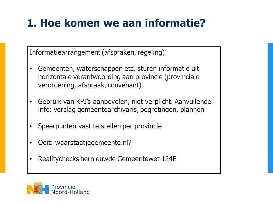 1. Hoe komen we aan informatie
