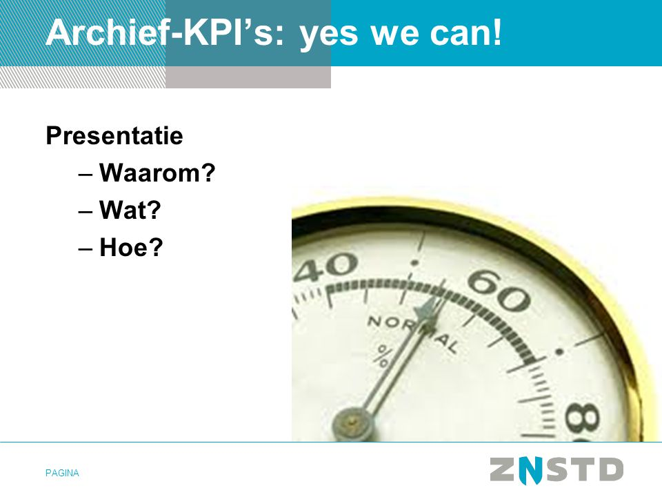 Archief-KPI's: yes we can!