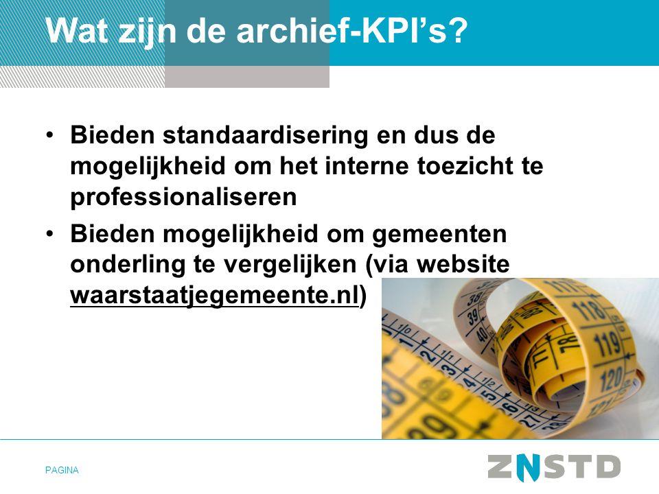 Wat zijn de archief-KPI's
