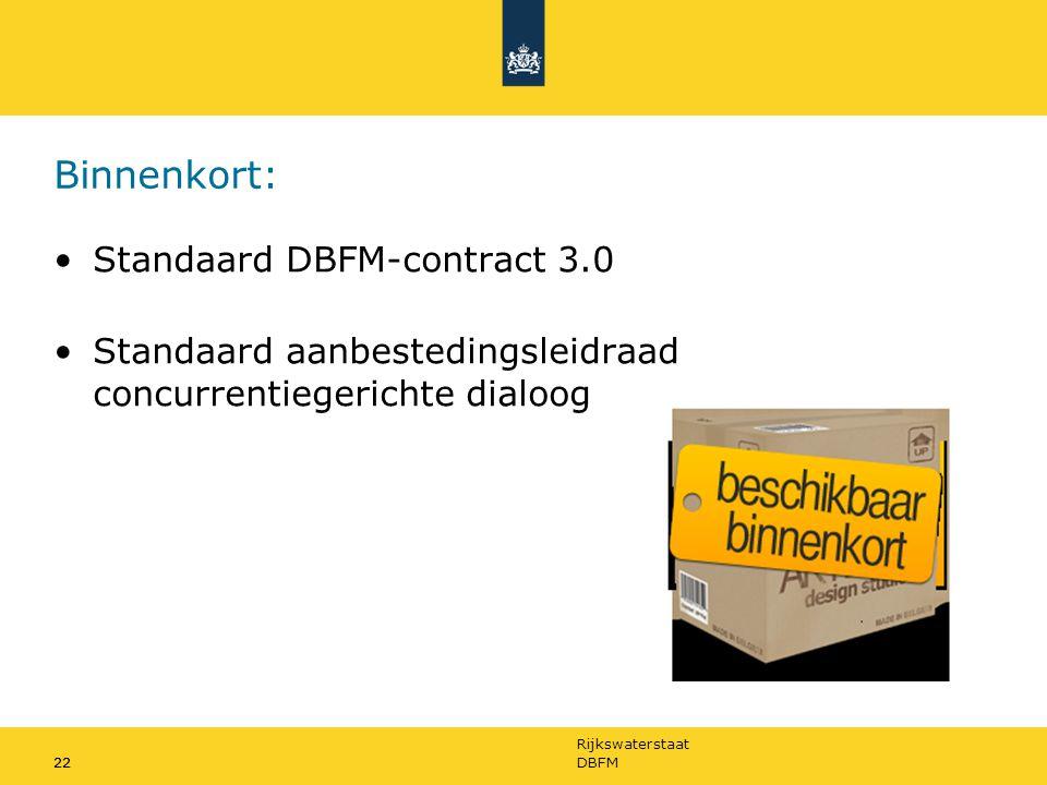 Binnenkort: Standaard DBFM-contract 3.0