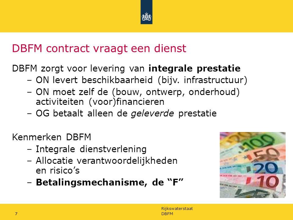 DBFM contract vraagt een dienst
