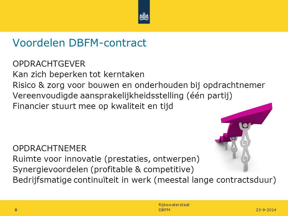 Voordelen DBFM-contract