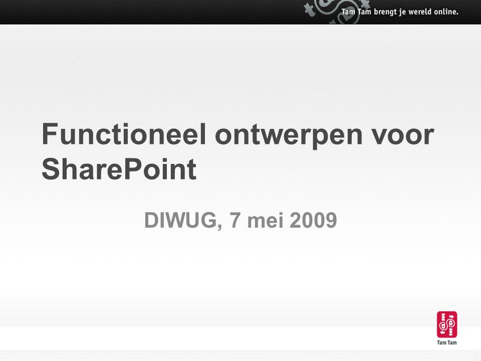 Functioneel ontwerpen voor SharePoint