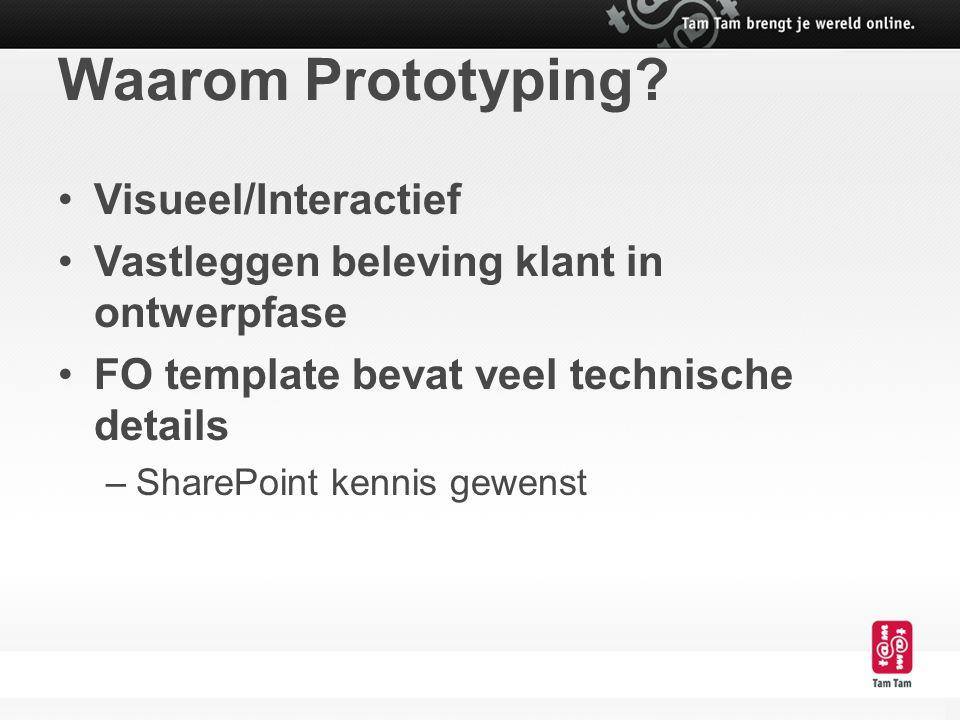 Waarom Prototyping Visueel/Interactief