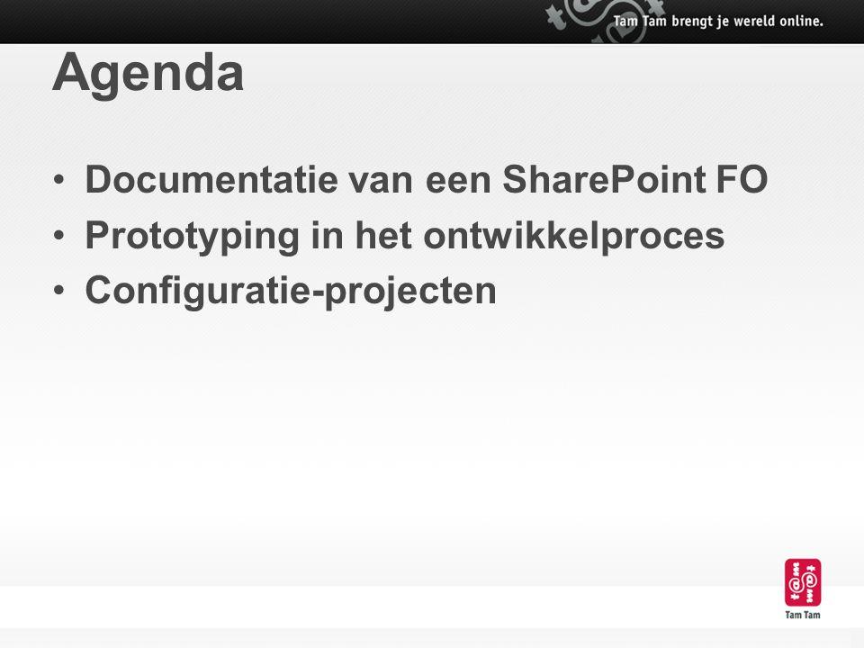 Agenda Documentatie van een SharePoint FO