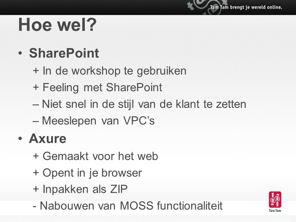 Hoe wel SharePoint Axure + In de workshop te gebruiken